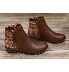 Nanette Lepore Brown Boho Pattern Booties