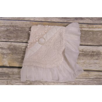 Frilly Frocks Fiona Ivory Blanket