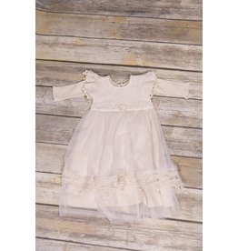 Frilly Frocks Fiona Ivory Gown 0-3M