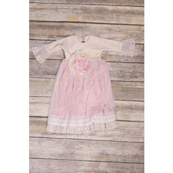 Frilly Frocks Millicent Pink Rose Gown 0-3M