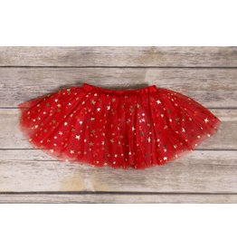 Ganz Red and Gold Star Tutu