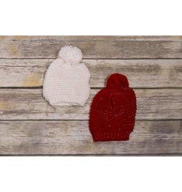 Ganz Sparkle Pom Pom Knit Hat