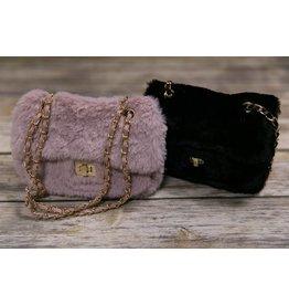 Mae Li Rose Furry purse