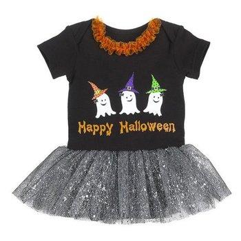 Ganz Happy Halloween Ghost Silver Tutu Onesie