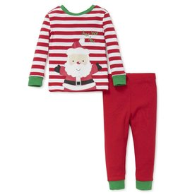 Little Me Christmas Santa Stripe PJ Set