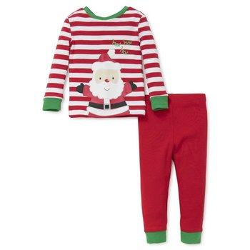 Little Me Christmas Santa Stripe PJ Set