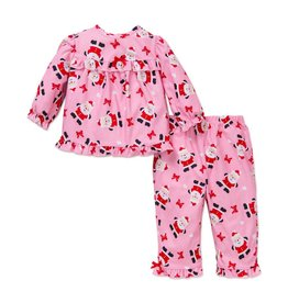 Little Me Pink Santa PJ Set