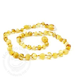 Momma Goose Baroque Lemon & Milky Amber Teething Necklace