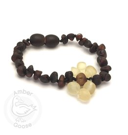 Momma Goose Flower Amber Teething Bracelet (Baby)