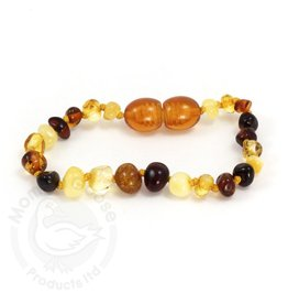 Amber Goose Multi Amber Teething Bracelet (Baby)