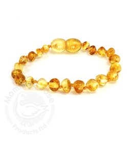 Momma Goose Lemon Amber Teething Bracelet (Baby)