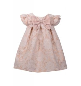Rose Gold Social Dress with Bow