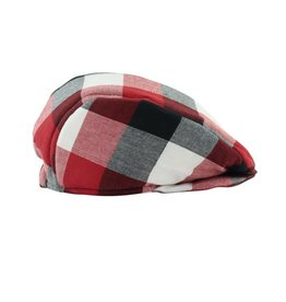 Rugged Butts Red Plaid Flannel Drivers Cap