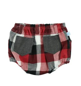Rugged Butts Red, White & Black Plaid Bloomer