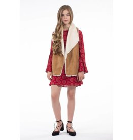 PP LA Brown Camel Fur Vest