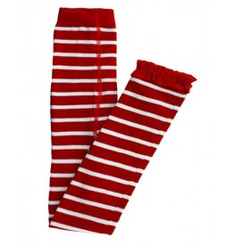 Rugged Butts Red and White Ruffle Tights