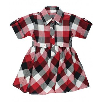 Ruffle Butts Red, White & Black Plaid Babydoll Dress