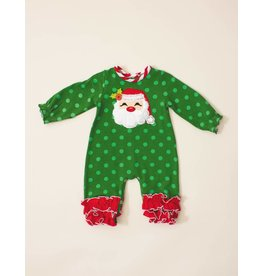 Molly & Millie Jolly Green Santa Romper