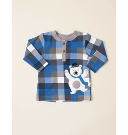 Wally & Willie Arctic the Dancing Bear Plaid Shirt
