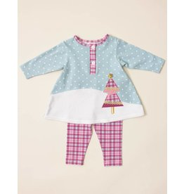 Molly & Millie Vintage Princess Plaid Tree Slope Tunic Set