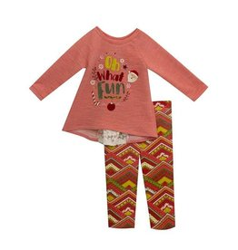 Rare Editions Oh What Fun Coral Sweater Set