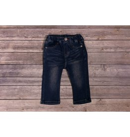 Bit'z Kids Elastic Waist Blue Jeans with Accent Stripe Pocket