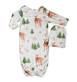 Baileys Blossoms Moose Sleeper Gown & Beanie Set