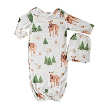 Bailey's Blossom Moose Sleeper Gown & Beanie Set