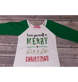 Haven Girl Have Yourself a Merry Little Christmas Sequins Shirt