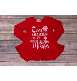 Haven Girl Candy Cane Wishes & Mistletoe Kisses Tunic