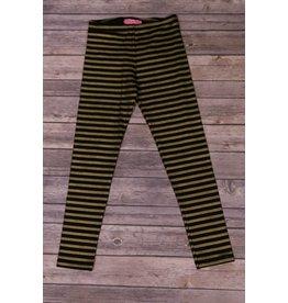 Haven Girl Black Leggings with Gold Stripes