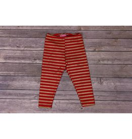 Haven Girl Red and Gold Striped Leggings
