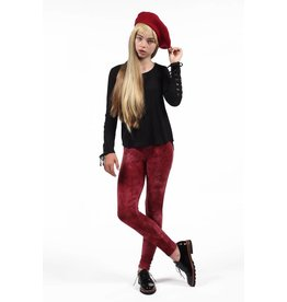 PP LA Burgundy Tie-Dye Leggings