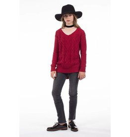 PP LA Knitted Burgundy Sweater