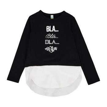 Blu by Blu Bla...Bla...Bla Black Long Sleeve Tunic with White Trim
