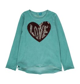 Blu by Blu Sequin heart love Shirt