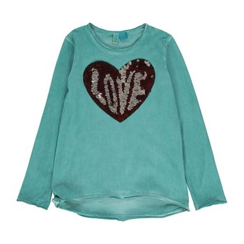 Blu by Blu Sequin heart love Shirt
