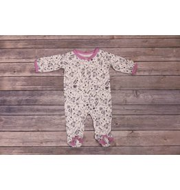 Jessica Simpson Baby Lavender and Grey Floral Footie