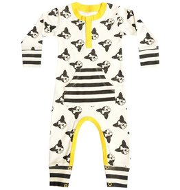 Cat and Dogma Boston Terrier Printed Playsuit