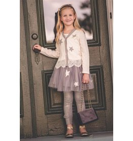 Mae Li Rose Gray Star Skirt