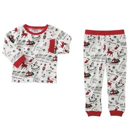 Mud Pie Boys Vintage Print Pajama Set