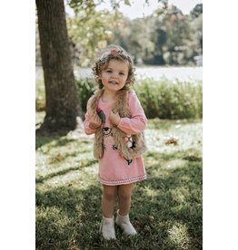 Baby Sara A-Line Dress with Textured Lama