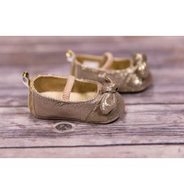 Laura Ashley Gold Shine Girls Shoes