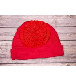 koko-nut Milk Red Tulle Flower Infant Cap