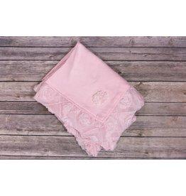 Bebemonde Diamond Flowers Light Pink Specialty Blanket