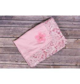 Bebemonde Corded Lace Light Pink Specialty Blanket