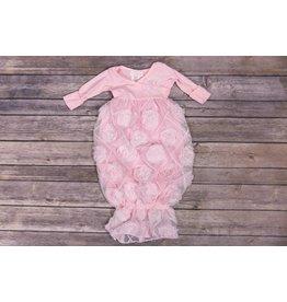 Bebemonde Mesh Diamond Light Pink Rose Gown