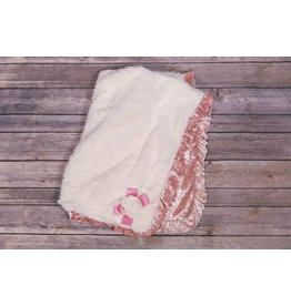 CachCach Dusty Rose Velvet Trim Blanket