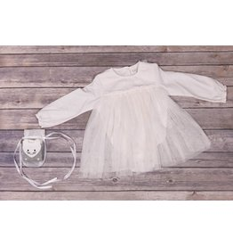 Jessica Simpson Baby Off White Longsleeve dress with Kitty Socks