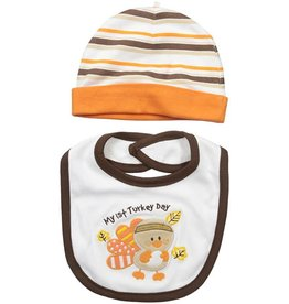 Lovespun My First Thanksgiving Hat and Bib Set
